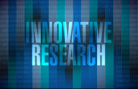 innovative research binary sign concept illustration design graphic