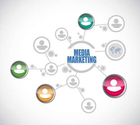 Media Marketing people diagram sign concept illustration design graphic