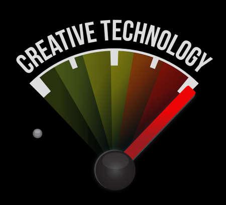 creative technology meter sign concept illustration design graphic Ilustração