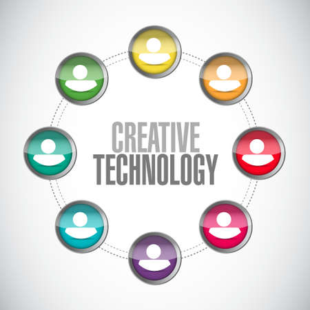 creative technology people network sign concept illustration design graphic