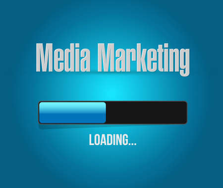 communications technology: Media Marketing globe sign concept illustration design graphic Illustration