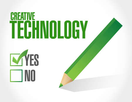 creative technology approval sign concept illustration design graphic Ilustrace