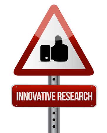 La recherche innovatrice comme signe de route graphique concept design illustration Banque d'images - 49589952