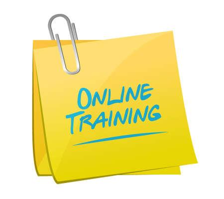 indoctrinate: Online Training memo post sign concept illustration design graphic