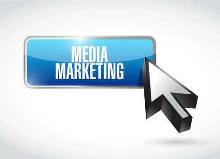 internet buttons: Media Marketing button sign concept illustration design graphic