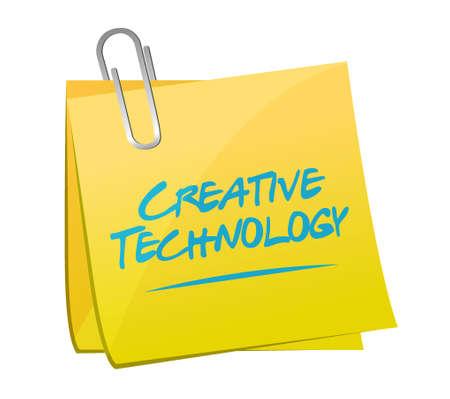 creative technology memo post sign concept illustration design graphic
