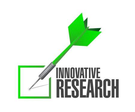 inquiry: innovative research check dart sign concept illustration design graphic Illustration