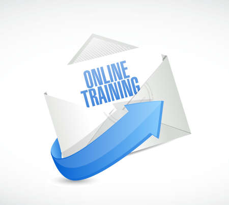 courses: Online Training mail sign concept illustration design graphic
