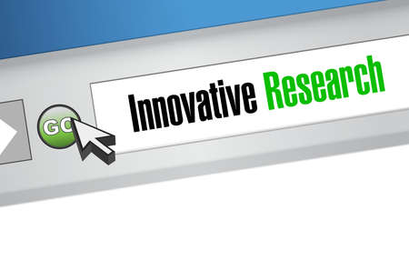 innovative research online sign concept illustration design graphic