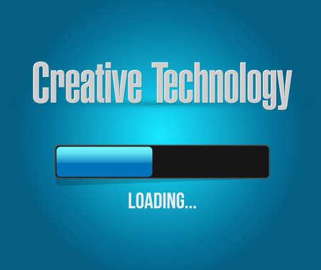 creative technology loading bar sign concept illustration design graphic