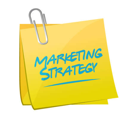 commercial sign: marketing strategy memo post sign concept illustration design graphic