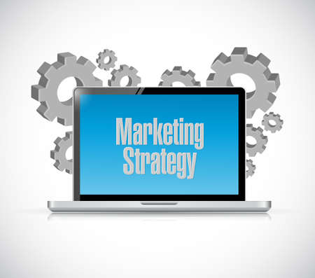 marketing strategy computer technology sign concept illustration design graphic 向量圖像