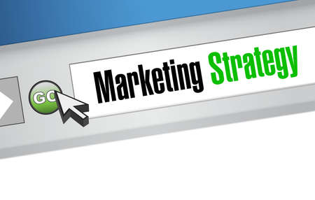 web marketing: marketing strategy web sign concept illustration design graphic