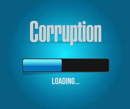 corruption: corruption loading concept sign illustration design graphic Illustration