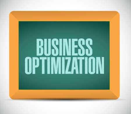 business optimization board sign concept illustration design graphic