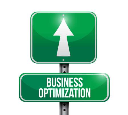 business optimization street sign concept illustration design graphic