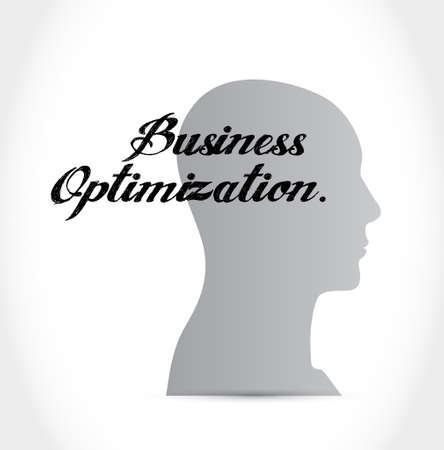 increase visibility: business optimization brain sign concept illustration design graphic