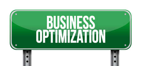 increase visibility: business optimization road sign concept illustration design graphic Illustration