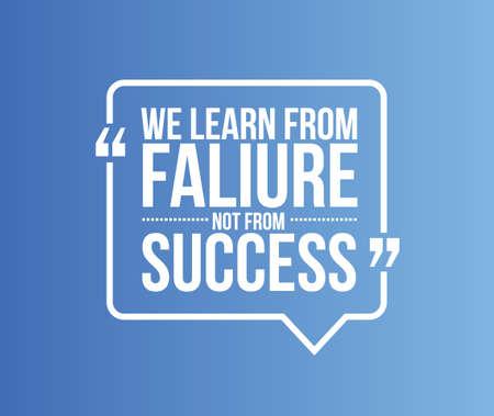 we leren van falen niet van succes citaat illustratie grafisch