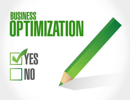 business optimization approval sign concept illustration design graphic