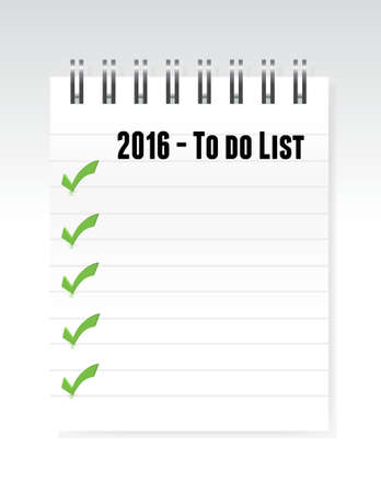 note paper: 2016 to do list note paper illustration design graphic