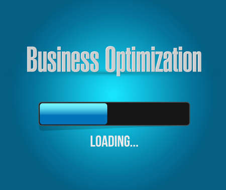 business process: business optimization loading bar sign concept illustration design graphic Illustration