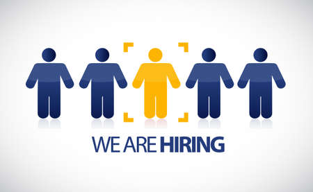 we the people: we are hiring people row selection. illustration design graphic Illustration