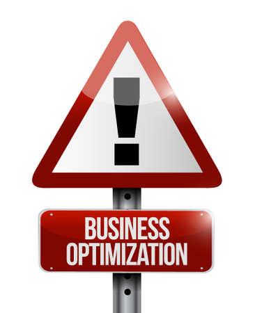 business optimization warning sign concept illustration design graphic Ilustrace