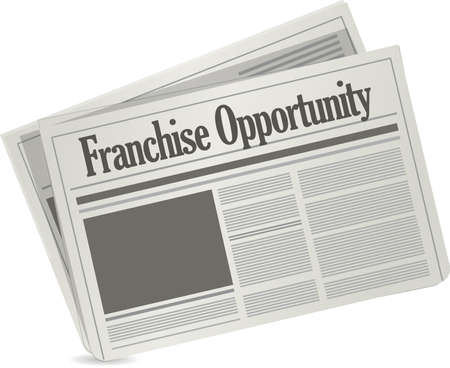 franchise opportunity newspaper concept illustration design graphic