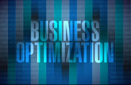 increase visibility: business optimization binary background sign concept illustration design graphic