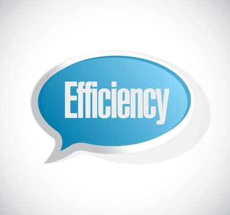 accomplishments: efficiency message bubble sign illustration design graphic Illustration