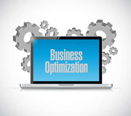 increase visibility: business optimization computer sign concept illustration design graphic