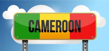 Cameroon road street sign illustration design graphic Ilustração