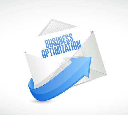 increase visibility: business optimization mail sign concept illustration design graphic