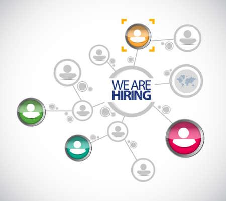 candidates: we are hiring. set of candidates. illustration design