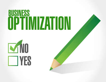 increase visibility: no business optimization sign concept illustration design graphic