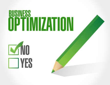 increase visibility: no business optimization sign concept illustration design graphic