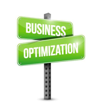 increase visibility: business optimization road sign concept illustration design graphic Illustration