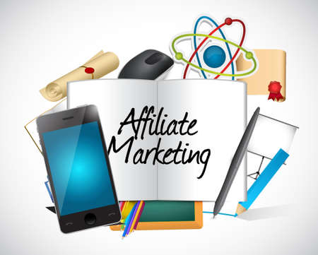 referral: affiliate marketing tools and sign illustration design graphic