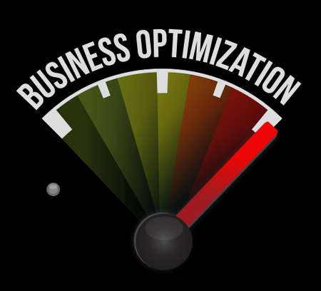improvement: business optimization meter sign concept illustration design graphic