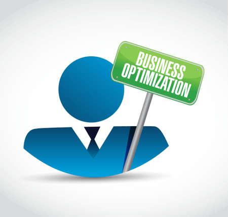 business optimization avatar sign concept illustration design graphic