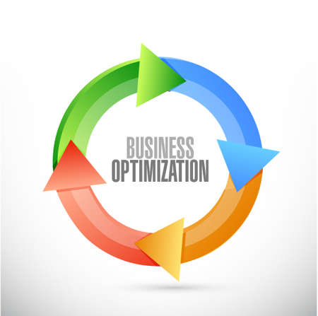 optimization: business optimization cycle sign concept illustration design graphic