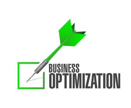 business optimization check dart sign concept illustration design graphic