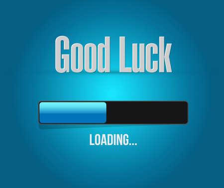 good luck loading bar concept illustration design graphic