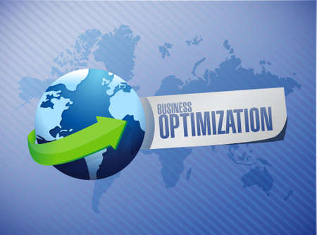 increase visibility: business optimization globe sign concept illustration design graphic