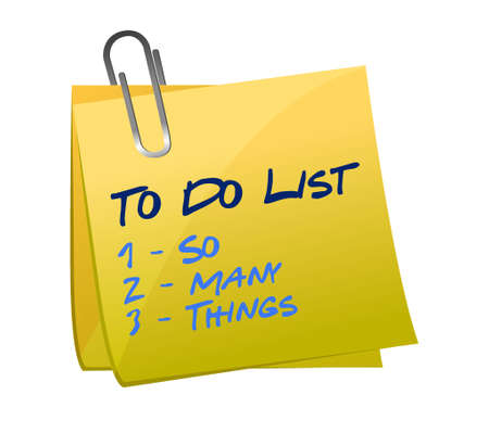 so many thing to do list illustration memo post design