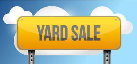 yard sale: yard sale yellow street road sign illustration design