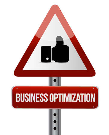 increase visibility: business optimization warning like sign concept illustration design graphic Illustration