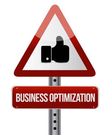 business optimization warning like sign concept illustration design graphic Illustration