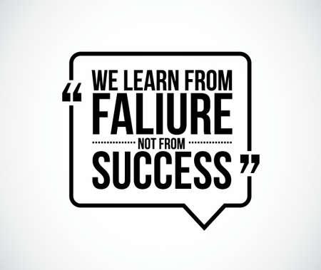 우리는 성공에서 실패로부터 배웁니다 일러스트레이션 디자인 그래픽을 인용합니다